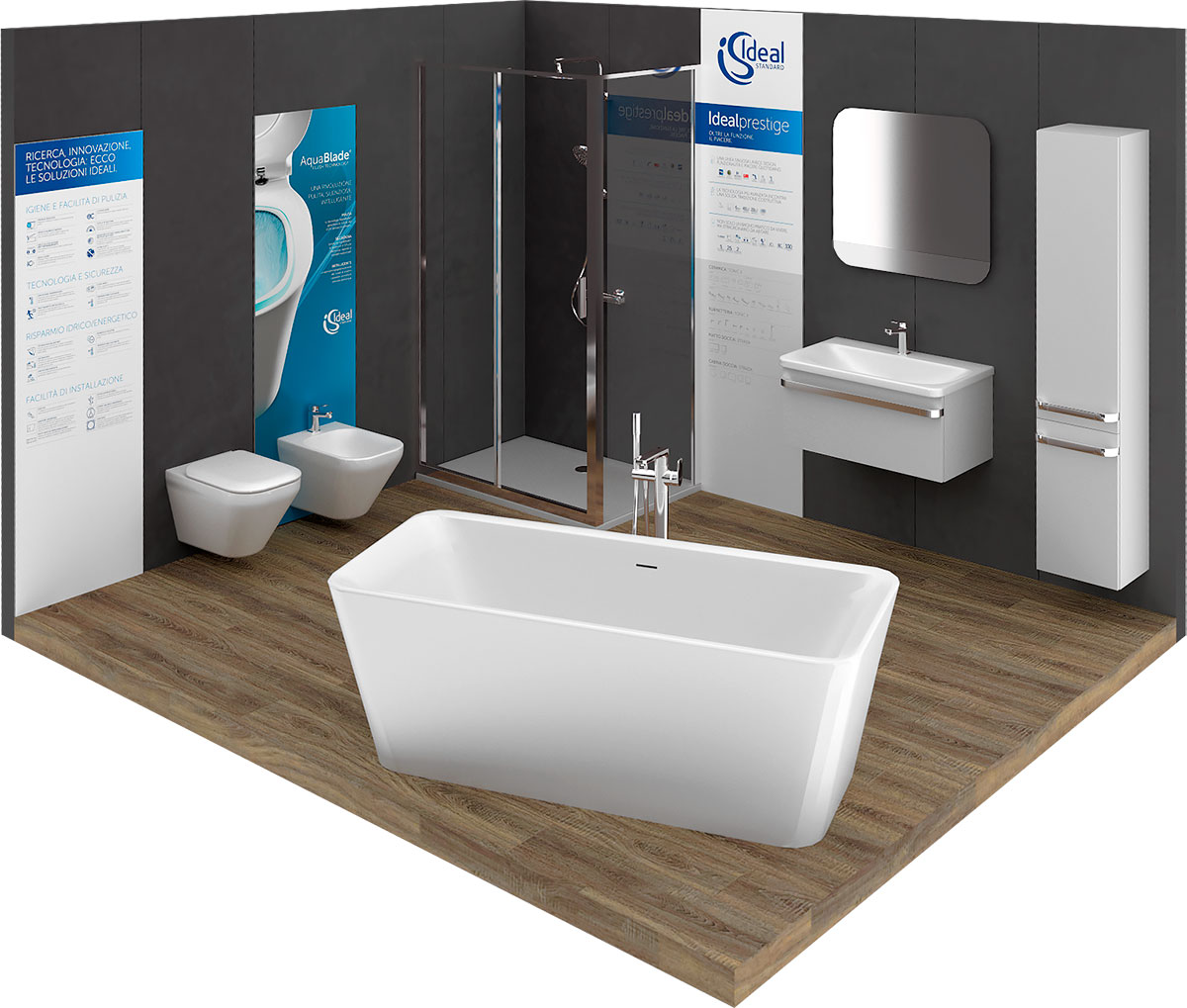 Ideal Standard Milano Showroom.Ideal Living The New Image Of Ideal Standard Mirata